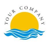Logotipo - aumentação Sun Foto de Stock Royalty Free