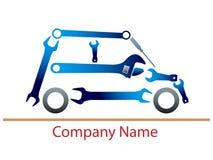 Logotipo auto del garaje stock de ilustración