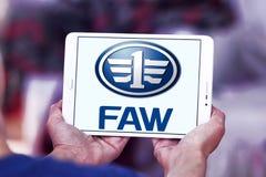 Logotipo automotivo da empresa de FAW Fotografia de Stock Royalty Free
