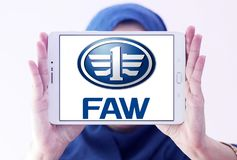 Logotipo automotivo da empresa de FAW Imagens de Stock Royalty Free