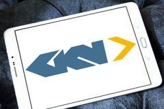 Logotipo automotivo e aeroespacial de GKN da empresa fotografia de stock