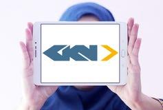 Logotipo automotivo e aeroespacial de GKN da empresa fotos de stock