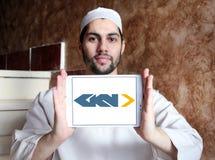 Logotipo automotivo e aeroespacial de GKN da empresa imagens de stock