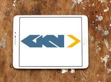 Logotipo automotivo e aeroespacial de GKN da empresa imagem de stock