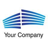 Logotipo-azul Imagens de Stock Royalty Free