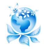 Logotipo azul 2 da ecologia Ilustração Stock