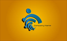 Logotipo - azul Foto de Stock Royalty Free