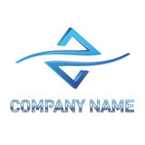 Logotipo azul da tecnologia Fotografia de Stock Royalty Free