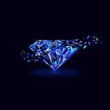 Logotipo azul de las gemas stock de ilustración