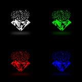Logotipo azul de las gemas ilustración del vector