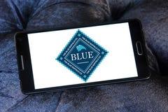 Logotipo azul del alimento para animales del búfalo Imagen de archivo