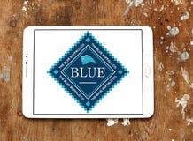 Logotipo azul del alimento para animales del búfalo Fotografía de archivo
