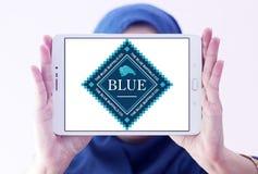 Logotipo azul del alimento para animales del búfalo Fotos de archivo libres de regalías