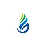 Logotipo azul del descenso del agua del gas Fotografía de archivo