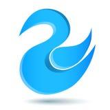 Logotipo azul del pájaro del gorjeo Foto de archivo libre de regalías