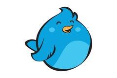 Logotipo azul do pássaro Fotografia de Stock Royalty Free