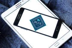 Logotipo azul dos alimentos para animais de estimação do búfalo Fotografia de Stock Royalty Free