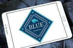 Logotipo azul dos alimentos para animais de estimação do búfalo Fotos de Stock
