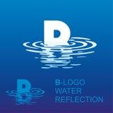 Logotipo B da letra do espelho Foto de Stock Royalty Free