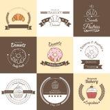 Logotipo badges2 de la panadería Foto de archivo