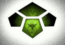 Logotipo bajo la forma de tejas Fotografía de archivo libre de regalías