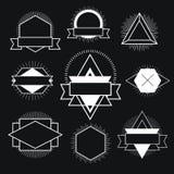 Logotipo blanco y negro del inconformista Fotos de archivo libres de regalías