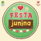 Logotipo bonito do partido de junho do brasileiro Foto de Stock Royalty Free