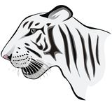 Logotipo branco do tigre Foto de Stock
