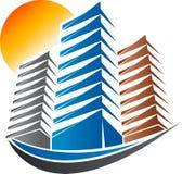 Logotipo brilhante da construção ilustração royalty free