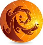 Logotipo brilhante da instrução Imagens de Stock
