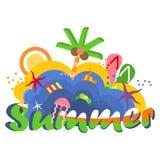 Logotipo brilhante do verão ilustração do vetor