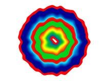 Logotipo brillante abstracto en colores del arco iris stock de ilustración