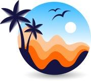 Logotipo caliente de las vacaciones del verano ilustración del vector