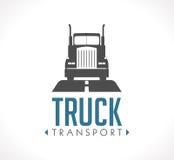 Logotipo - camión logístico stock de ilustración