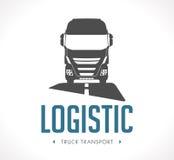 Logotipo - camión logístico ilustración del vector