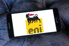 Logotipo campany do óleo de Eni Fotos de Stock