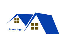 Logotipo casero de la casa Stock de ilustración