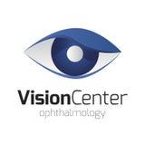 Logotipo Center da visão ilustração stock