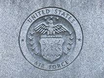 Logotipo cinzelado da força aérea de E.U. no memorial a Carolina Veterans sul das forças armadas de Estados Unidos Foto de Stock