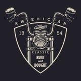 Logotipo clásico de la moto del vintage Foto de archivo libre de regalías