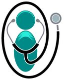 Logotipo clínico ilustração royalty free