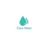 Logotipo claro del icono del agua Imagen de archivo libre de regalías