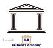 Logotipo - Collegium grego Foto de Stock Royalty Free