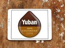 Logotipo colombiano do tipo do café de Yuban Fotografia de Stock
