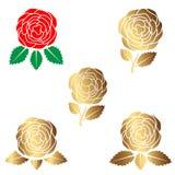 Logotipo color de rosa de la belleza, muestra, símbolo para el salón de belleza, tienda de belleza, salón del balneario, floriste Imagenes de archivo