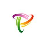 Logotipo coloreado círculo de la tecnología de la órbita Imagen de archivo