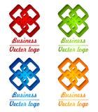 logotipo colorido 3D do rombo Fotos de Stock Royalty Free