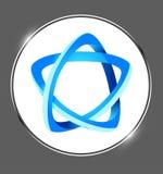 Logotipo colorido criativo em um vetor da medalha do brilho ilustração do vetor