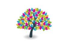 Logotipo colorido da árvore ilustração royalty free