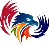 Logotipo colorido da cabeça da águia Fotos de Stock Royalty Free